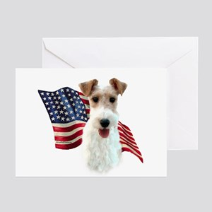Wire Fox Flag Greeting Cards (Pk of 10)