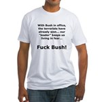 Fuck Bush #4 Fitted T-Shirt