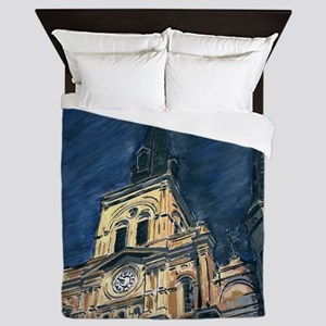 French Quarter Cathedral Queen Duvet