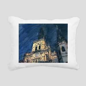 French Quarter Cathedral Rectangular Canvas Pillow