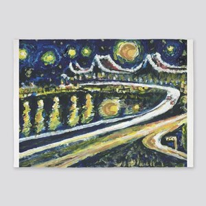Starry Night Bridge 5'x7'Area Rug