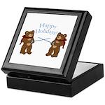 Teddy Bear Fencers Holiday Keepsake Box