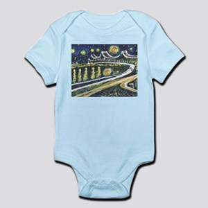 Starry Night Bridge Body Suit