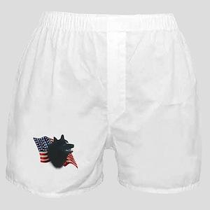 Schipperke Flag Boxer Shorts