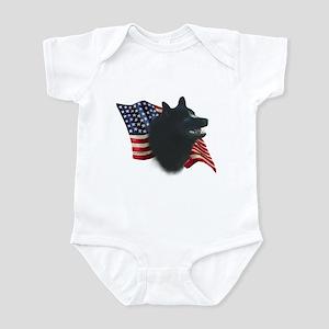 Schipperke Flag Infant Bodysuit