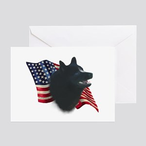 Schipperke Flag Greeting Cards (Pk of 10)