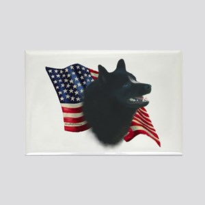Schipperke Flag Rectangle Magnet