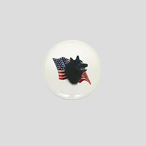 Schipperke Flag Mini Button