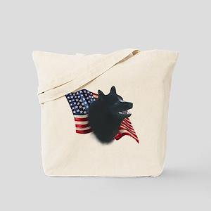 Schipperke Flag Tote Bag