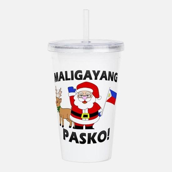 Santa's Maligayang Pas Acrylic Double-wall Tumbler