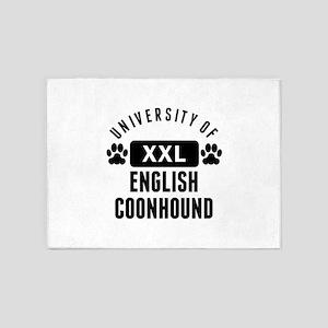 University Of English Coonhound 5'x7'Area Rug