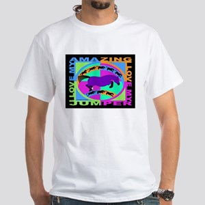 graphically equine White T-Shirt