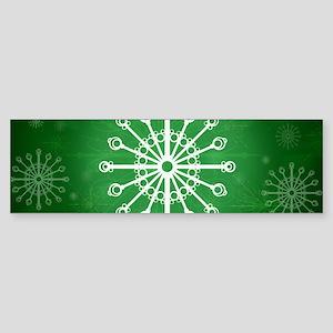 Green Winter Bumper Sticker