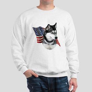 Husky(blk) Flag Sweatshirt