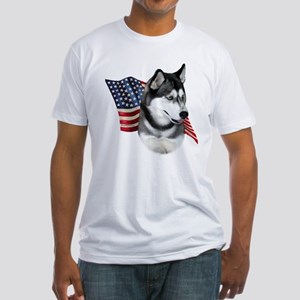 Husky(blk) Flag Fitted T-Shirt