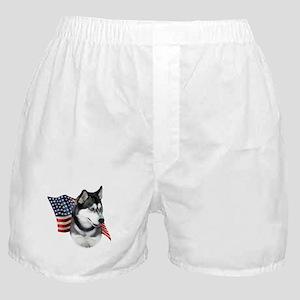 Husky(blk) Flag Boxer Shorts