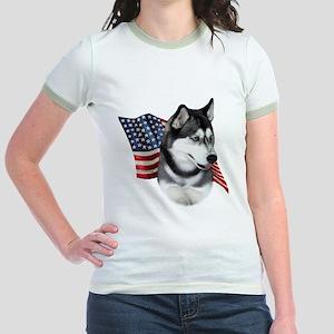 Husky(blk) Flag Jr. Ringer T-Shirt