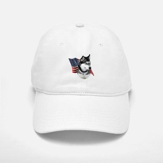 Husky(blk) Flag Baseball Baseball Cap