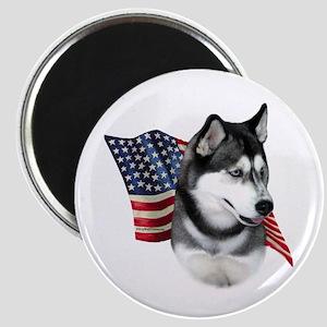 Husky(blk) Flag Magnet