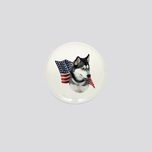 Husky(blk) Flag Mini Button