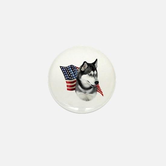 Husky(blk) Flag Mini Button