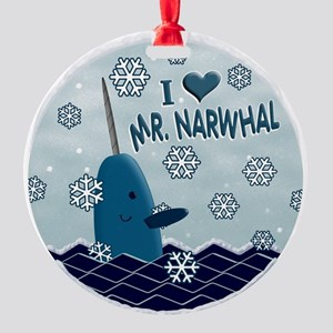 MR NARWHAL copy 4print Round Ornament