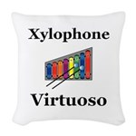 Xylophone Virtuoso Woven Throw Pillow