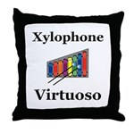 Xylophone Virtuoso Throw Pillow