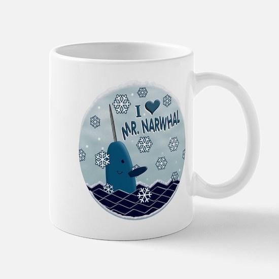 I LOVE MR. NARWHAL Mugs