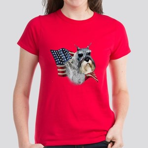 Schnauzer Flag Women's Dark T-Shirt