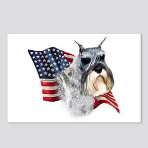 Schnauzer Flag Postcards (Package of 8)