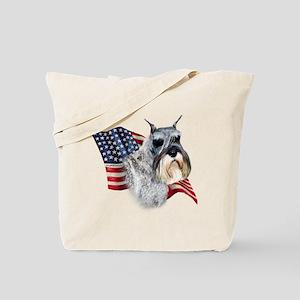 Schnauzer Flag Tote Bag