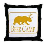 Beer Camp Throw Pillow