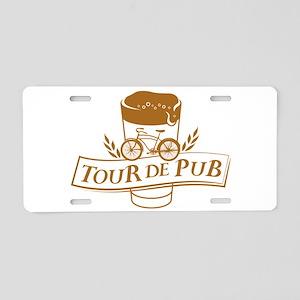 Tour de Pub Aluminum License Plate