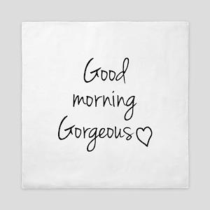 Good morning my love Queen Duvet