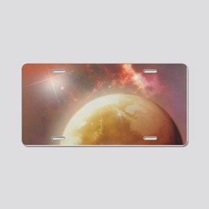 Space Dream Aluminum License Plate