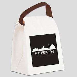 skyline washington Canvas Lunch Bag