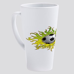 Soccer Tribal Sun 17 oz Latte Mug