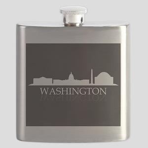 skyline washington Flask