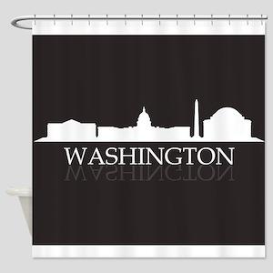 skyline washington Shower Curtain