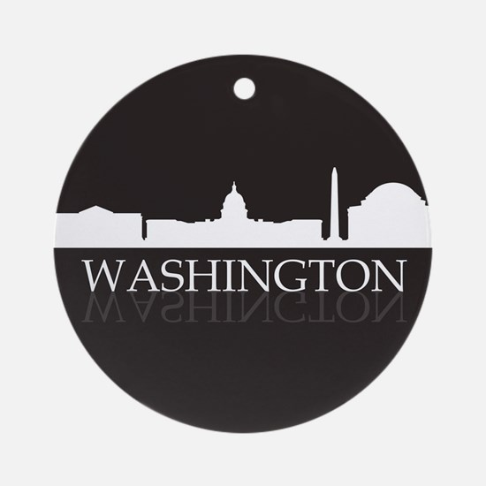 skyline washington Round Ornament
