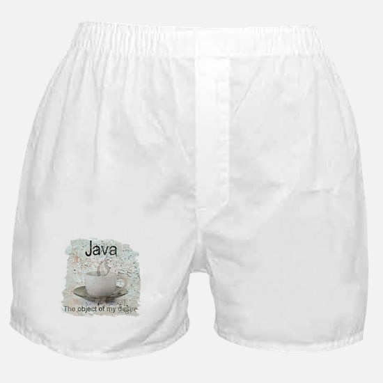 """Java-Object of my desire"" Boxer Shorts"