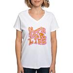 Hippie for Life Women's V-Neck T-Shirt