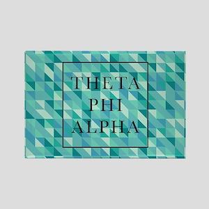 Theta Phi Alpha Geometric FB Rectangle Magnet