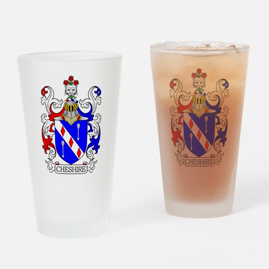Cheshire Family Crest Drinking Glass