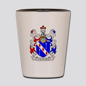 Cheshire Family Crest Shot Glass