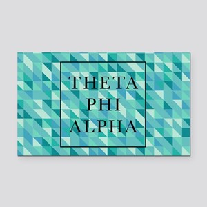 Theta Phi Alpha Geometric FB Rectangle Car Magnet