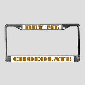 Chocolate License Plate Frame