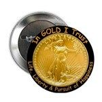 Gold Liberty w Motto on black Button
