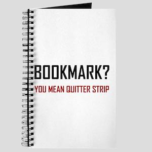 Bookmark Quitter Strip Journal